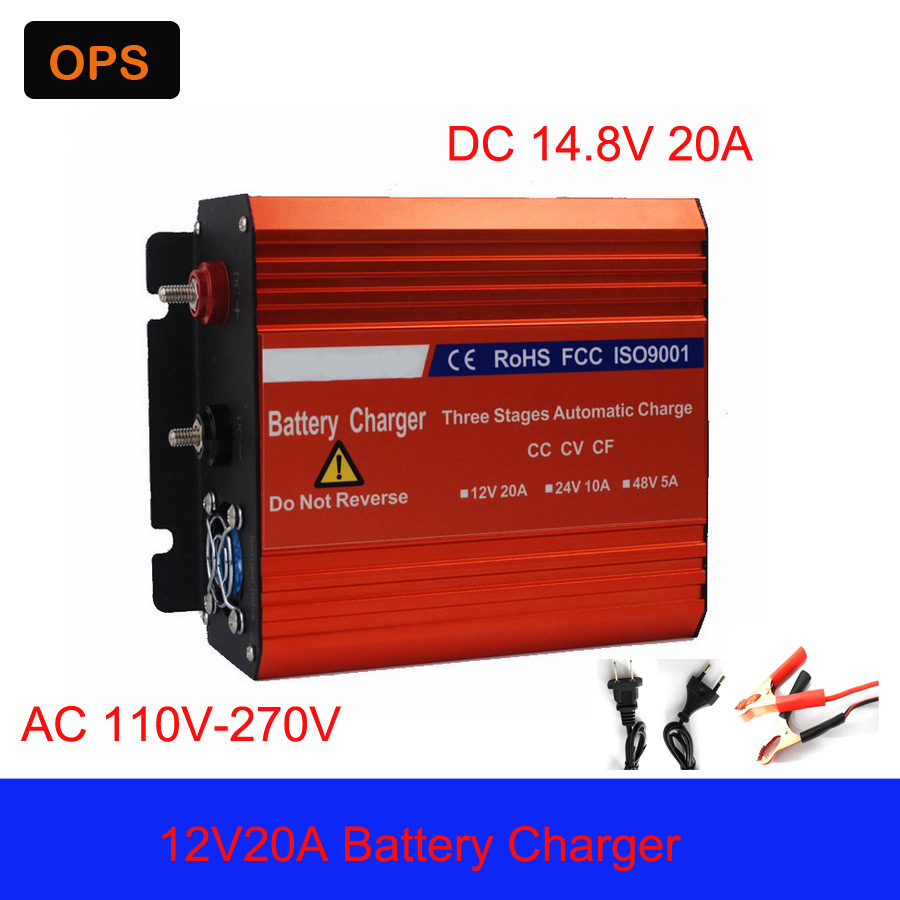 OPS wholesale original 12V 20A smart font b Car b font battery charger Lead Acid Switchable