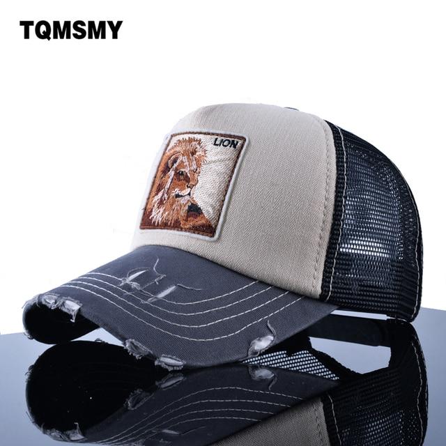 TQMSMY Summer mesh hat men casquette Embroidery lion Baseball Cap Unisex Hip  Hop bone casual Pokemon Snapback Caps women sun hat d84e683a06de