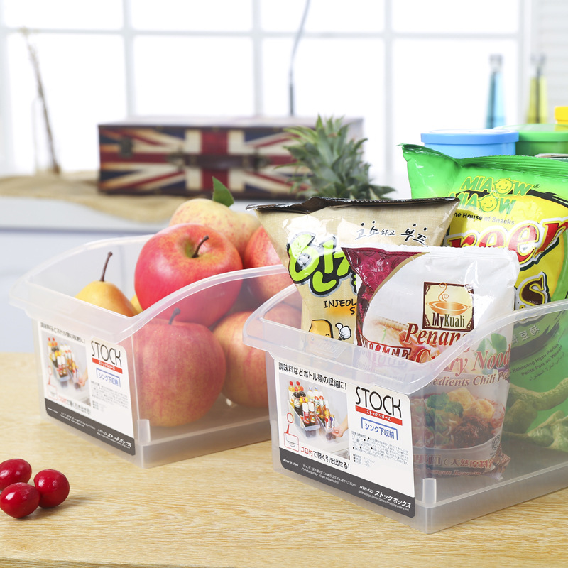 Creative Transparent Plastic With Pulley Storage Boxes Are Very Busy Home Toys Kitchen Refrigerator Drawer Sorting Compartment