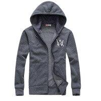 2017Mens Hoodies Sweatshirts Music DJ Comedy Alan Walker Hip Hop Hoodie Black Jacket Men Clothes Fashion