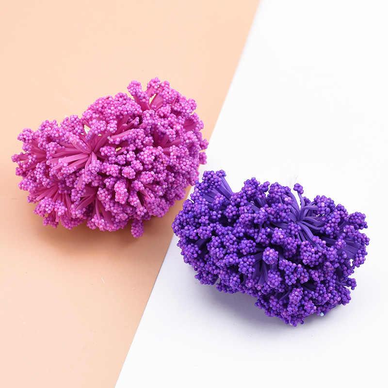 12 pièces mariage décor à la maison PE lavande décoration de la maison accessoires fleurs pour scrapbook bricolage guirlande cadeaux boîte fleurs artificielles