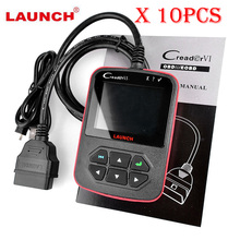 10PCS LAUNCH Creader VI Code Scanner Creader 6 OBD2 OBDII Port Fault Code Reader Multi-language Update Online Diagnostic Tool(China)