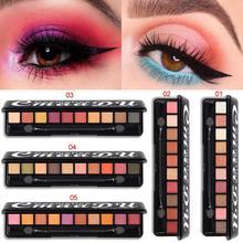 CmaaDU 10 Color Matte Pearl Eyeshadow Palette Eye Pigments Powder Shimmer Glitter Nude Eye Shadow Palette With Brush Make Up цена 2017