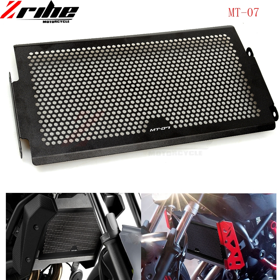 цена на For Stainless Steel Motorcycle Radiator Guard Radiator Cover For Yamaha Mt07 Mt-07 FZ07 FZ-07 MT 07 2014 2015 2016 XSR700