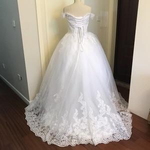 Image 3 - 2020 ślub księżniczki sukienki Vestido de Noiva Off ramię aplikacja z koronki Sweetheart suknia balowa z krynoliną suknia ślubna szata De Mariee