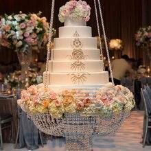 Подвесная подставка для свадебного торта, прозрачные акриловые бусины, акриловое украшение для основного стола, размер: диаметр 60 см