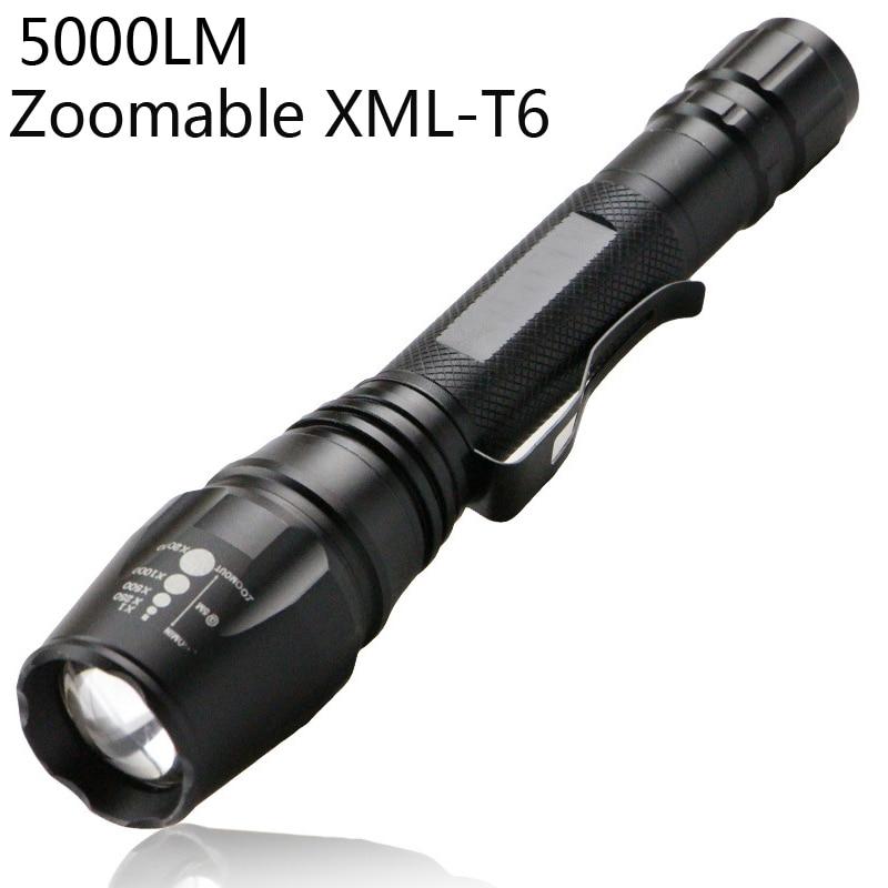 Malibu Landscape Lights Flashing: 5000LM XM LT6 Zoom Led Lighting Lanterns Zoomable LED