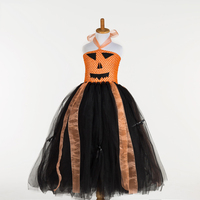 Cute Black And Orange Carnival Party Tutu Dresses For Toddler Children Dress Up Costumes For Kids