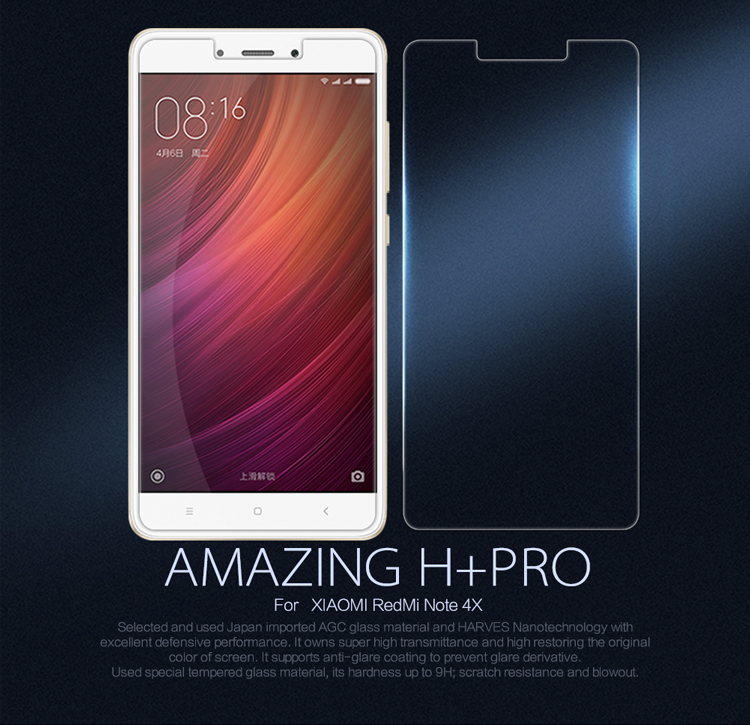 For Redmi Note 4X Tempered Glass Screen Protector NILLKIN Amazing H+PRO 2.5D Protective Film For Xiaomi Redme Note 4X Glass Film