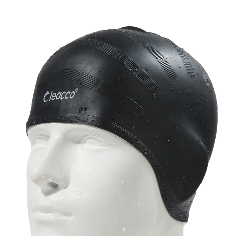 Adultes Imperméables bonnet de bain badmuts silicone natation chapeau homme femmes haute spandex grande taille bonbons couleurs usage de natation chapeau