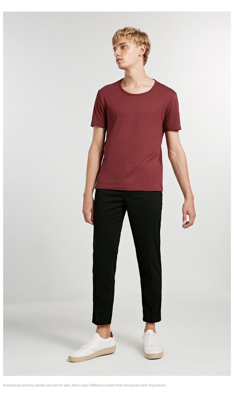 JackJones Men's Cotton T-shirt Solid Color Ice Cool Touch Fabric Men's Basic Top Fashion t shirt Jack Jones tshirt 220101546