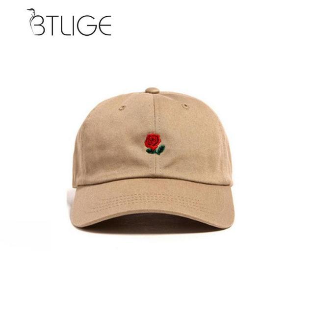 4d250a0a138 BTLIGE Women Men Hundreds Dad Hat Flower Rose Embroidered Curved Brim  Baseball Cap Visor Hat Clothing