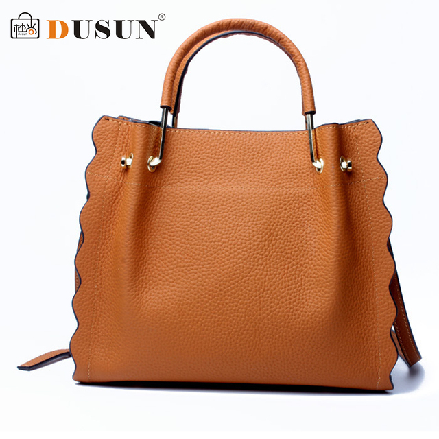 DUSUN Brand Handbags Women Designer Vintage Shoulder Bag Ladies Genuine  Leather Messenger Bag Female Fashion Crossbody e14b51b64a624