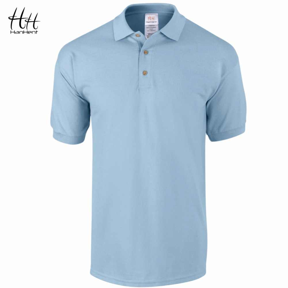 HanHent Classic Business Office Polo Shirt Brand Tops Men Clothing Solid Mens Polos Shirts Cotton Breathable Casual Poloshirt