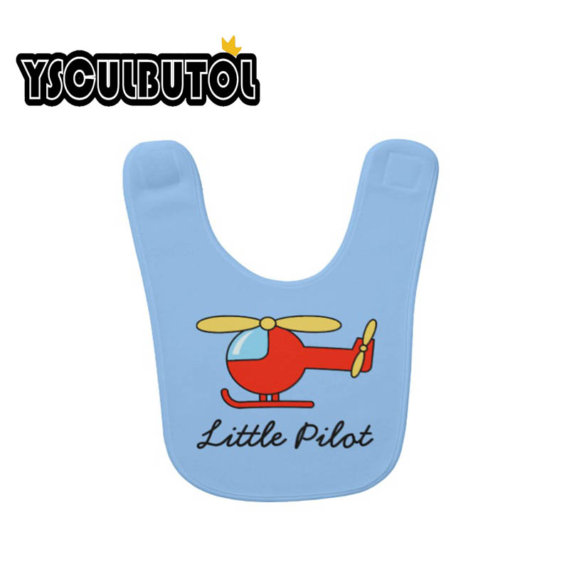 YSCULBUTOL Little Pilot baby bib with toy helicopter