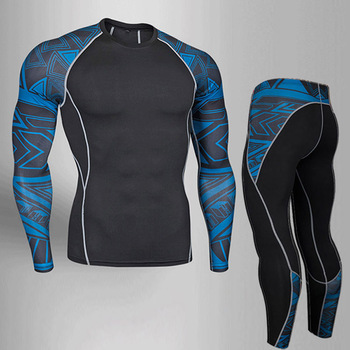 2018 new men and women jogging thermal underwear base layer Compression sportswear MMA rash guard kit  Gym T-shirt jogging suits