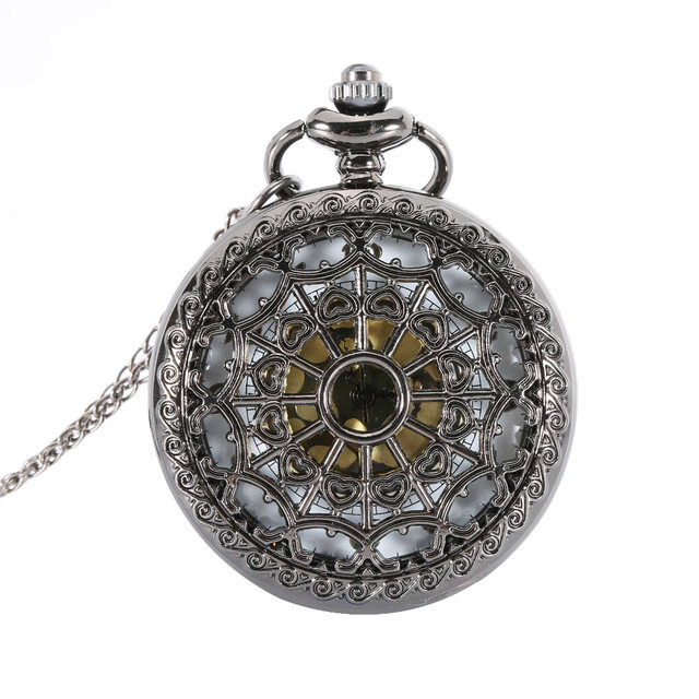 2017 High Quality Lover Hollow Quartz Pocket Watch Pendant Necklace Antique Gift