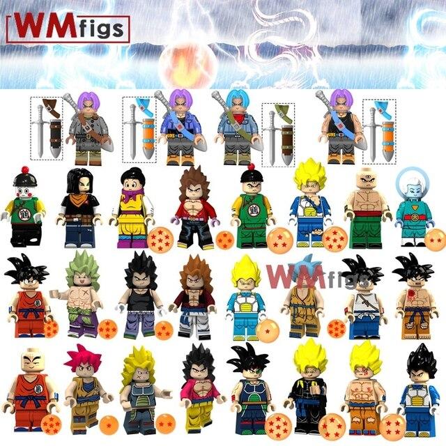Dragon Ball Z Broly Super Saiyans Legoings Vegeta Gogeta Goku Figuras de Ação Building Blocks Brinquedos para Crianças Juguetes Presente do Miúdo