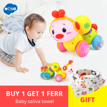 Купить с кэшбэком Lovely Musical Brinquedos Bebe Worm Press function with music/light Baby Toys for Free Shipping Huile Toys 997 Creeping Worm