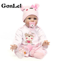 Bebe Reborn 26-55cm Soft Silicone Reborn Baby Dolls Lifelike Soft Cloth Body Newborn Babies Silicone Toys Kids Birthday Gifts