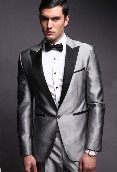 Wedding Suits For Men Light Gray Custom Made, Bespoke Ash Grey ...