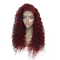 Fashion Synthetic Hairpiece Long Human Hair Wigs For Black Women Jerry Curl Human Hair Wigs Non Remy 2 Colors Africa Hair Wigs