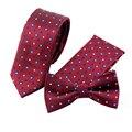 Conjunto Laço do Negócio Magros Laços Para Homens moda Marca Impresso Bolso Quadrado Para O Casamento Floral Gravata + Gravata + lenços Definir