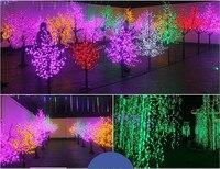 Shiny LED Cherry Blossom Christmas Tree Lighting Waterproof Garden Landscape Decoration Lamp For Wedding Party Chrisma