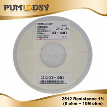 4000pcs/lot 2512 1% SMD Resistor 0.01R-0.091R 0.1R-0.91R 0R 1R-10M 5% resistor in reel chip fixed