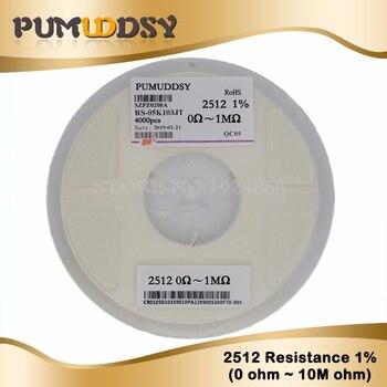 4000pcs/lot 2512 1% SMD Resistor 2512 0.01R-0.091R 0.1R-0.91R 0R 1R-10M 5% resistor in reel 2512 chip fixed resistor цена 2017