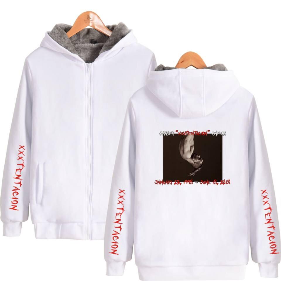 Xxxtentacion Hoodies triste hombres sudaderas rap rapero hip hop zipper  sweatershirts sudadera hombres y mujeres 2018 moda - Blog Store 69097591032