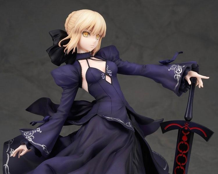 ФОТО 1pcs Anime character Fate/Stay Night Saber Arturia on full dress action pvc figure model tall 22cm.