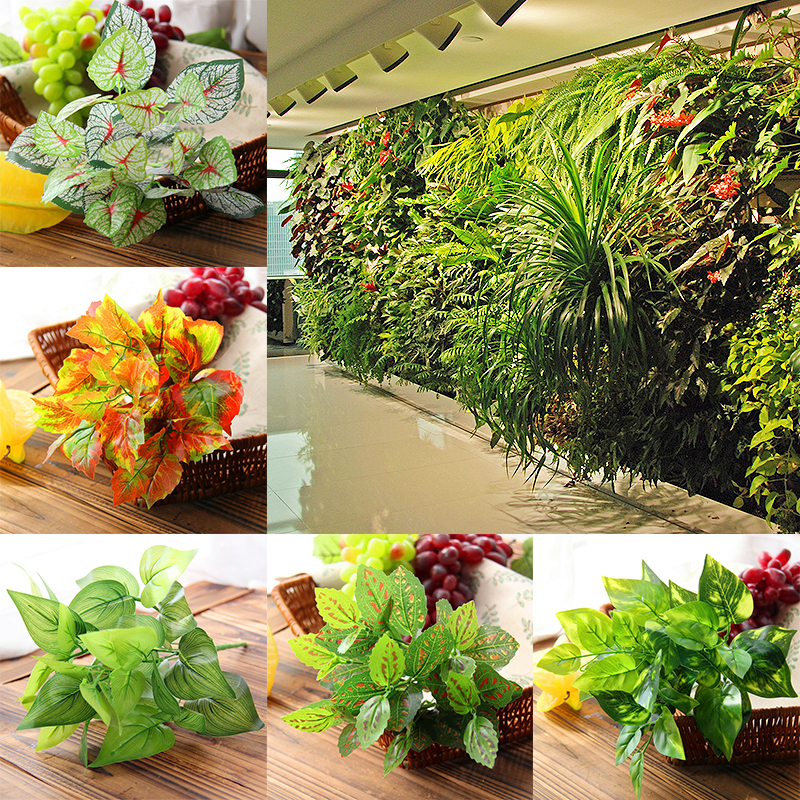 Fake Green Plants For Wedding Hotel Green Greenery Leaves Office