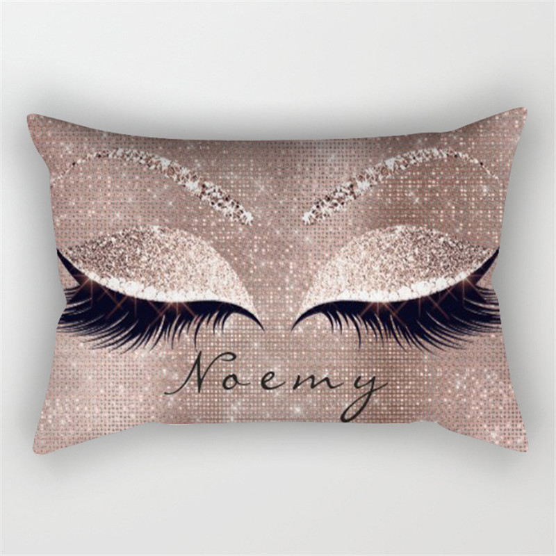 Pink Golden Lash Out Soft Velvet Cushion Cover 30x50cm Marble Pillow Cover Bedroom Sofa Decoration Pillow Cases in Cushion Cover from Home Garden