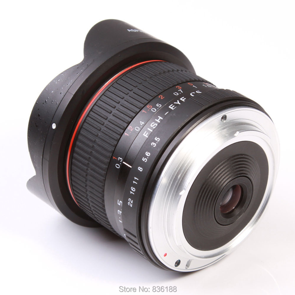 JINTU Pro 8mm f/3.5 Fisheye fish eye Lens for Canon Eos 650D 750D ...