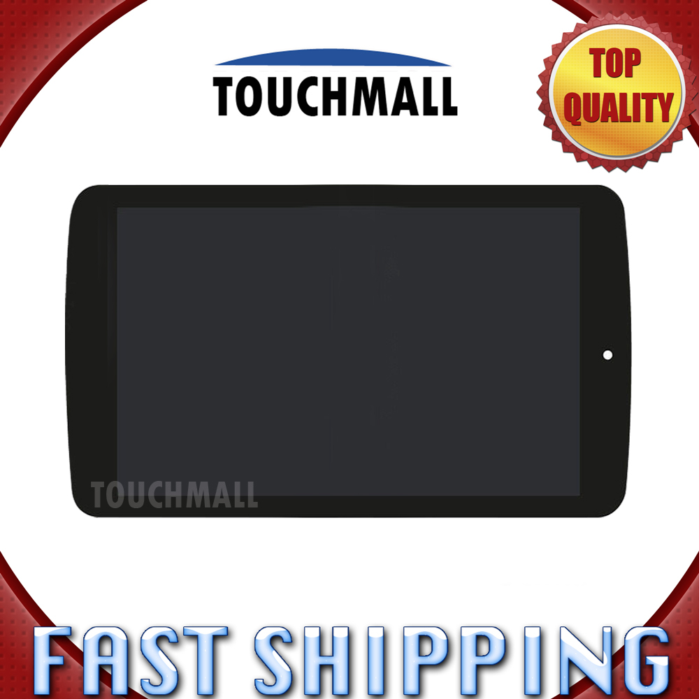 For LG G Pad F 7.0 LK430 Replacement LCD Display Touch Screen with Frame Assembly 7-inch Black For Tablet Free Shipping original lcd for lg optimus g2 d802 lcd touch screen with frame black and white color dhl free shipping