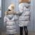 La más nueva Manera de La Madre y Familia Hijos Juego Trajes Espesar Pato Blanco Abajo Chaqueta Madre Hija Trajes Girls Winter Parka