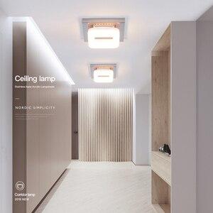 Image 4 - Moderne Quadratische Decken Lampe 3 Lichter Veränderbare Dimmbare Edelstahl LED Decke Licht für Eingang Kleine Zimmer Warm Weiß