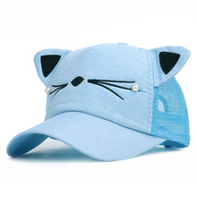 New Cartoon Cap Cat Ear Children Baseball for Boys and Girls