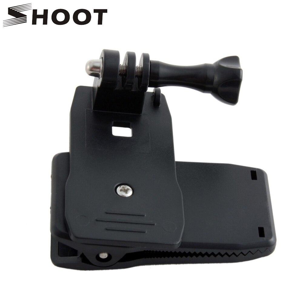 Shoot 360 grados rotary mochila sombrero clip montaje de abrazadera para gopro h