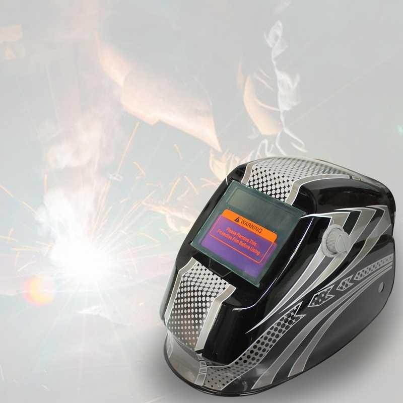 LIXF-новая профессиональная маска сварщика солнечных батарей авто затемнение сварочный шлем черно-белые точки