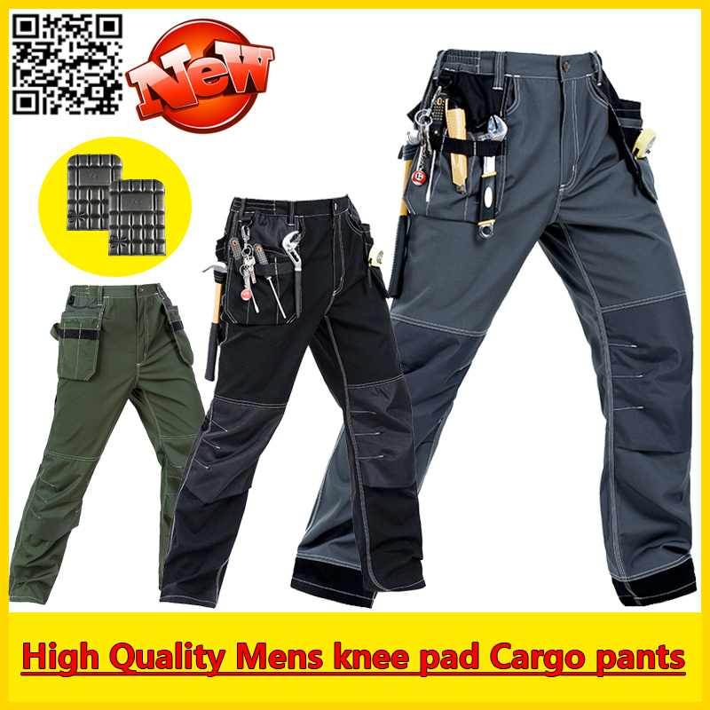 Bauskydd High Quality Durable multi-pockets working pant cargo pant with knee pads free shipping floral print multi pockets zipper fly cargo shorts