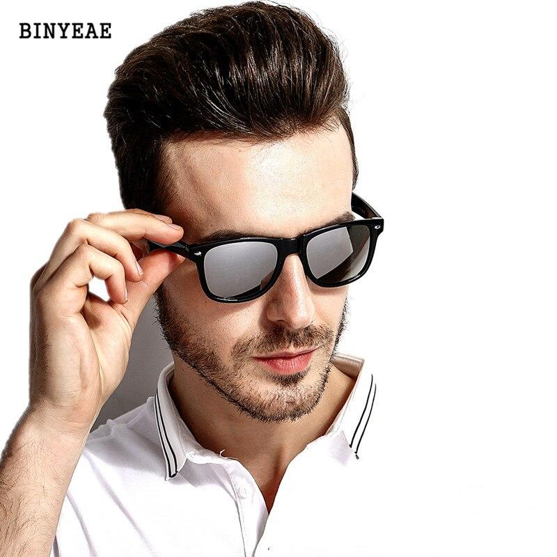 Novo 2018 Moda Óculos De Sol Dos Homens Óculos Polarizados Condução Óculos Espelhos Revestimento Pontos Preto Quadro Óculos Masculinos Óculos de Sol UV400