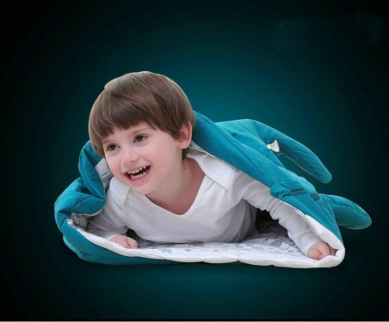 New Shark Newborn Baby Sleeping Bag Winter Stroller Bed Swaddle Blanket Wrap Bedding Cartoon Babies Sleep Sack (0-12Month)0508 0 12month baby girls