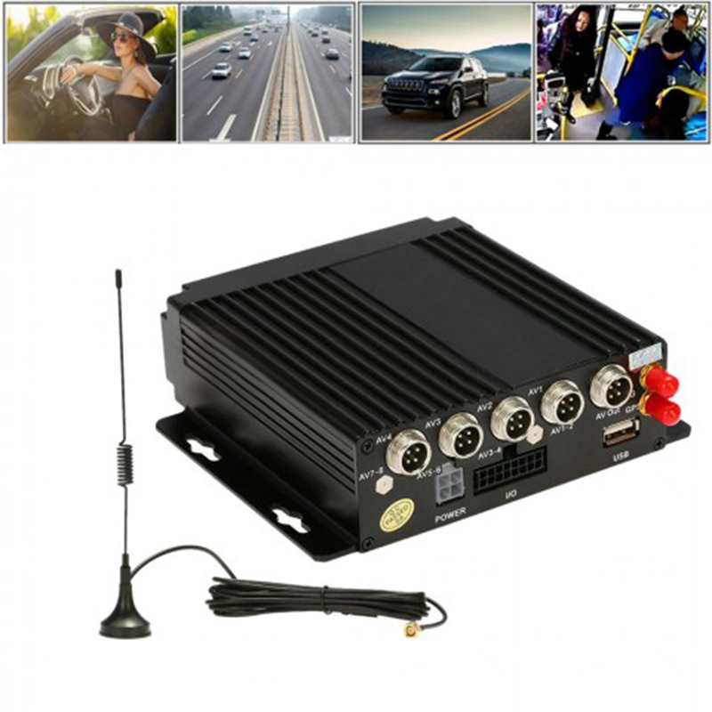 4CH Channel AHD Car Mobile DVR SD 3G GPS Realtime Video Recorder + IR Remote Control AHD Mobile DVR 720P
