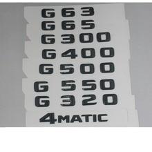 Gloss Black Trunk Letters Number Badge Emblem Emblems for Mercedes Benz G63 G65 G55 AMG G300 G400 G500 G550 G320 4MATIC