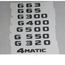 Глянцевый черный значок для букв в багажнике эмблемы mercedes