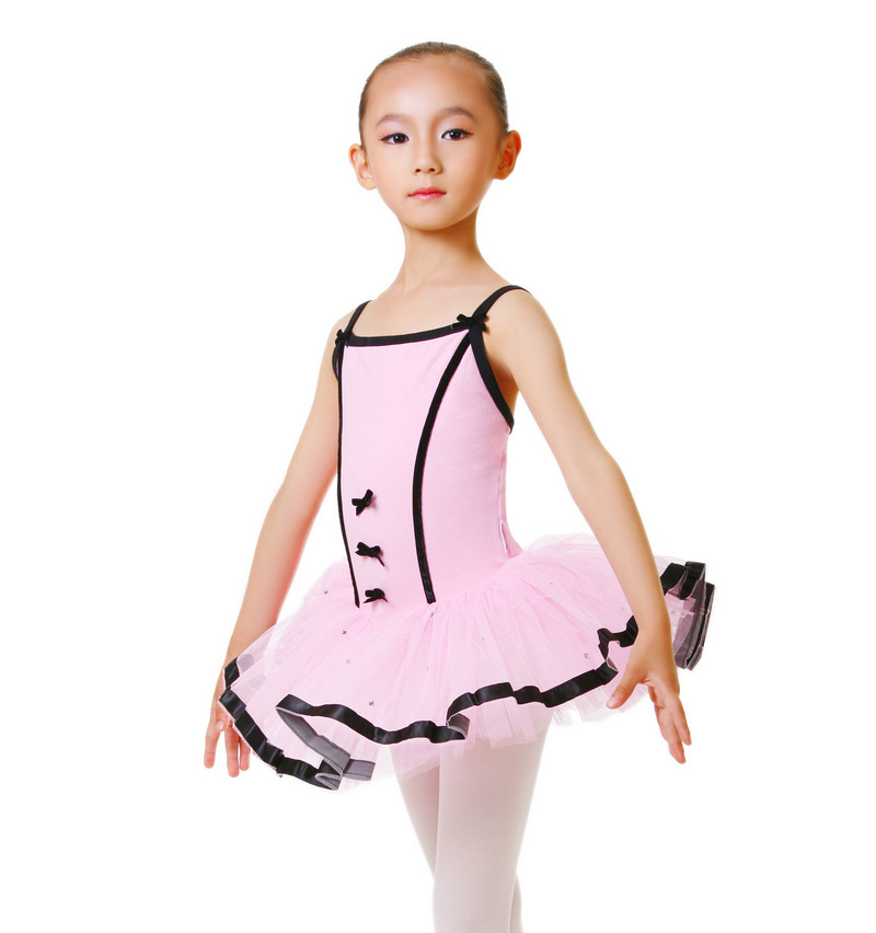 Sling Cotton Gymnastics Leotard For Girls Ballet Dancewear Kids Stage Swan Lake Costume Ballerine Clothes Children Dancing Dress