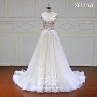 Eslieb Элегантный Новый дизайн ТРАПЕЦИЕВИДНОЕ свадебное платье сексуальное v образный вырез с открытой спиной Vestido de Noiva невесты платья robe de