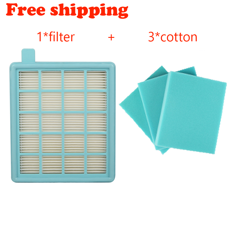 4pcs/lotFilter Mesh HEPA FILTER BUFFALO-MISTRAL For Philips Vacuum Cleaner FC8470 FC8471 FC8472 FC8473 FC8474 FC8476 fc8634